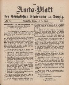 Amts-Blatt der Königlichen Regierung zu Danzig, 27. August 1892, Nr. 35