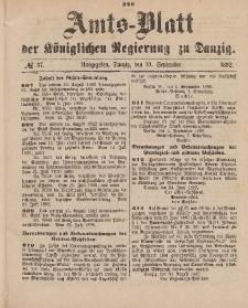 Amts-Blatt der Königlichen Regierung zu Danzig, 10. September 1892, Nr. 37