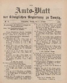 Amts-Blatt der Königlichen Regierung zu Danzig, 8. Oktober 1892, Nr. 41