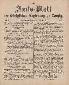 Amts-Blatt der Königlichen Regierung zu Danzig, 15. Oktober 1892, Nr. 42