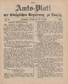 Amts-Blatt der Königlichen Regierung zu Danzig, 29. Oktober 1892, Nr. 44