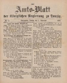 Amts-Blatt der Königlichen Regierung zu Danzig, 5. November 1892, Nr. 45