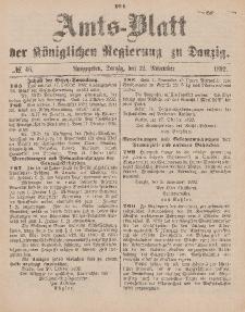 Amts-Blatt der Königlichen Regierung zu Danzig, 12. November 1892, Nr. 46