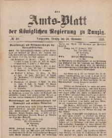Amts-Blatt der Königlichen Regierung zu Danzig, 26. November 1892, Nr. 48