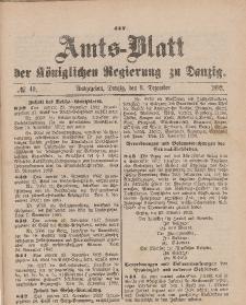 Amts-Blatt der Königlichen Regierung zu Danzig, 3. Dezember 1892, Nr. 49