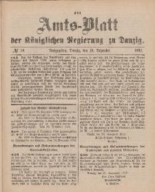 Amts-Blatt der Königlichen Regierung zu Danzig, 10. Dezember 1892, Nr. 50