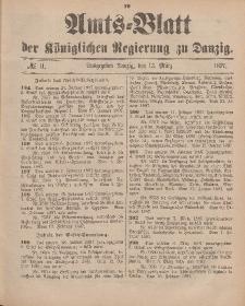 Amts-Blatt der Königlichen Regierung zu Danzig, 13. März 1897, Nr. 11