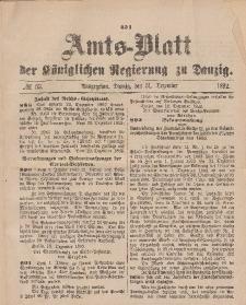 Amts-Blatt der Königlichen Regierung zu Danzig, 31. Dezember 1892, Nr. 53