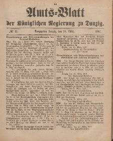 Amts-Blatt der Königlichen Regierung zu Danzig, 20. März 1897, Nr. 12
