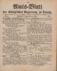 Amts-Blatt der Königlichen Regierung zu Danzig, 27. März 1897, Nr. 13