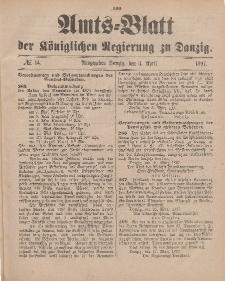 Amts-Blatt der Königlichen Regierung zu Danzig, 3. April 1897, Nr. 14