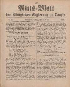 Amts-Blatt der Königlichen Regierung zu Danzig, 17. April 1897, Nr. 16