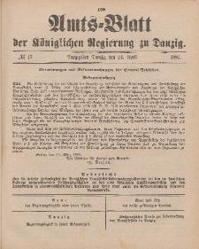 Amts-Blatt der Königlichen Regierung zu Danzig, 24. April 1897, Nr. 17