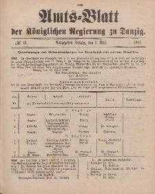 Amts-Blatt der Königlichen Regierung zu Danzig, 1. Mai 1897, Nr. 18