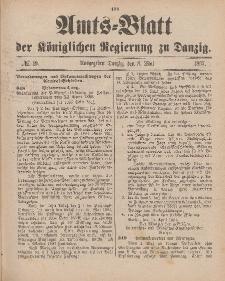 Amts-Blatt der Königlichen Regierung zu Danzig, 8. Mai 1897, Nr. 19