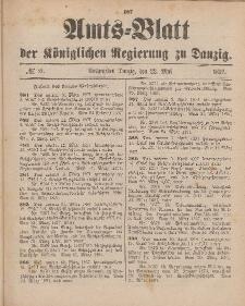 Amts-Blatt der Königlichen Regierung zu Danzig, 22. Mai 1897, Nr. 21