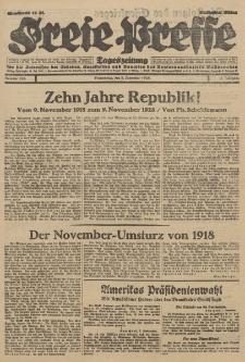 Freie Presse, Nr. 263 Donnerstag 8. November 1928 4. Jahrgang