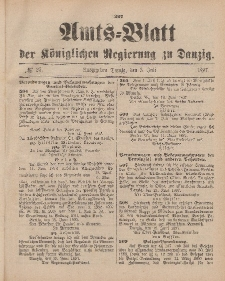 Amts-Blatt der Königlichen Regierung zu Danzig, 3. Juli 1897, Nr. 27