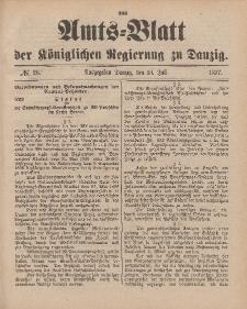 Amts-Blatt der Königlichen Regierung zu Danzig, 10. Juli 1897, Nr. 28