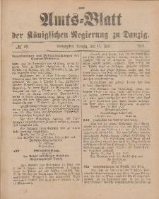 Amts-Blatt der Königlichen Regierung zu Danzig, 17. Juli 1897, Nr. 29