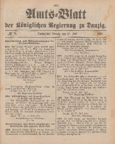 Amts-Blatt der Königlichen Regierung zu Danzig, 31. Juli 1897, Nr. 31