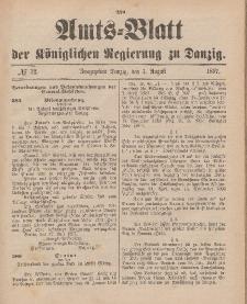 Amts-Blatt der Königlichen Regierung zu Danzig, 7. August 1897, Nr. 32