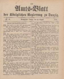 Amts-Blatt der Königlichen Regierung zu Danzig, 14. August 1897, Nr. 33