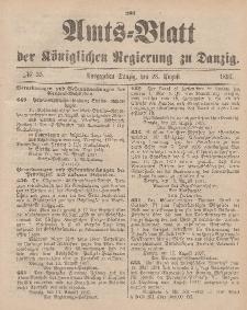Amts-Blatt der Königlichen Regierung zu Danzig, 28. August 1897, Nr. 35