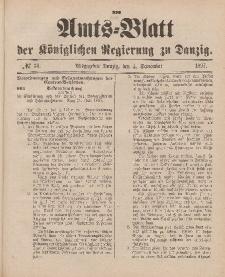 Amts-Blatt der Königlichen Regierung zu Danzig, 4. September 1897, Nr. 36