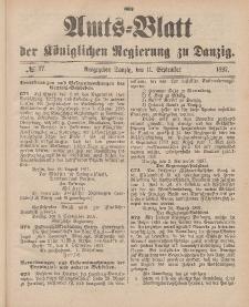 Amts-Blatt der Königlichen Regierung zu Danzig, 11. September 1897, Nr. 37