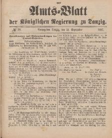 Amts-Blatt der Königlichen Regierung zu Danzig, 18. September 1897, Nr. 38