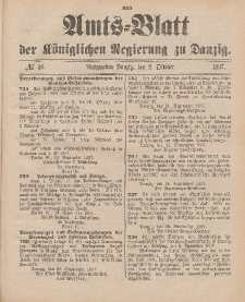 Amts-Blatt der Königlichen Regierung zu Danzig, 2. Oktober 1897, Nr. 40