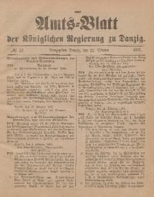 Amts-Blatt der Königlichen Regierung zu Danzig, 23. Oktober 1897, Nr. 43