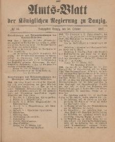 Amts-Blatt der Königlichen Regierung zu Danzig, 30. Oktober 1897, Nr. 44