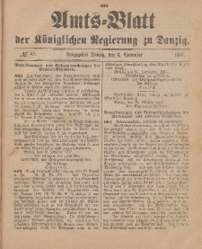 Amts-Blatt der Königlichen Regierung zu Danzig, 6. November 1897, Nr. 45