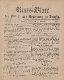 Amts-Blatt der Königlichen Regierung zu Danzig, 20. November 1897, Nr. 47