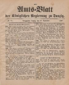 Amts-Blatt der Königlichen Regierung zu Danzig, 27. November 1897, Nr. 48