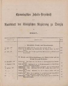 Chronologisches Inhaltsverzeichnis zum Amtsblatt der Königlichen Regierung zu Danzig pro 1897