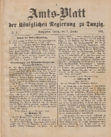 Amts-Blatt der Königlichen Regierung zu Danzig, 7. Januar 1893, Nr. 1
