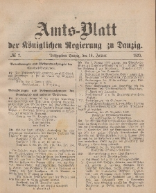 Amts-Blatt der Königlichen Regierung zu Danzig, 14. Januar 1893, Nr. 2