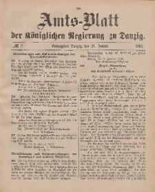 Amts-Blatt der Königlichen Regierung zu Danzig, 21. Januar 1893, Nr. 3