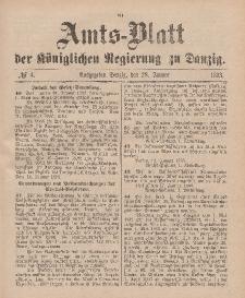 Amts-Blatt der Königlichen Regierung zu Danzig, 28. Januar 1893, Nr. 4