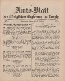 Amts-Blatt der Königlichen Regierung zu Danzig, 4. Februar 1893, Nr. 5