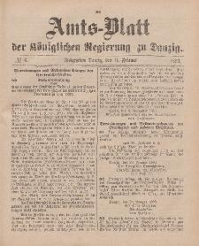 Amts-Blatt der Königlichen Regierung zu Danzig, 11. Februar 1893, Nr. 6