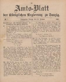 Amts-Blatt der Königlichen Regierung zu Danzig, 18. Februar 1893, Nr. 7