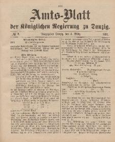 Amts-Blatt der Königlichen Regierung zu Danzig, 4. März 1893, Nr. 9