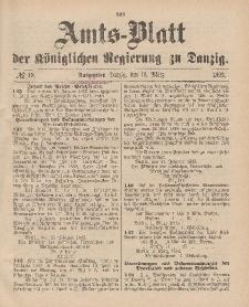 Amts-Blatt der Königlichen Regierung zu Danzig, 11. März 1893, Nr. 10