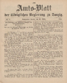 Amts-Blatt der Königlichen Regierung zu Danzig, 18. März 1893, Nr. 11