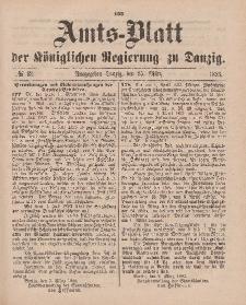 Amts-Blatt der Königlichen Regierung zu Danzig, 25. März 1893, Nr. 12
