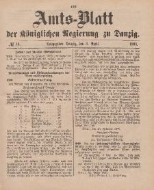 Amts-Blatt der Königlichen Regierung zu Danzig, 8. April 1893, Nr. 14